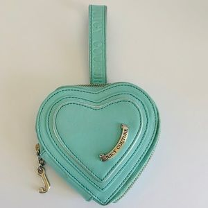 Juicy Couture Heart Shaped Blue Wristlet